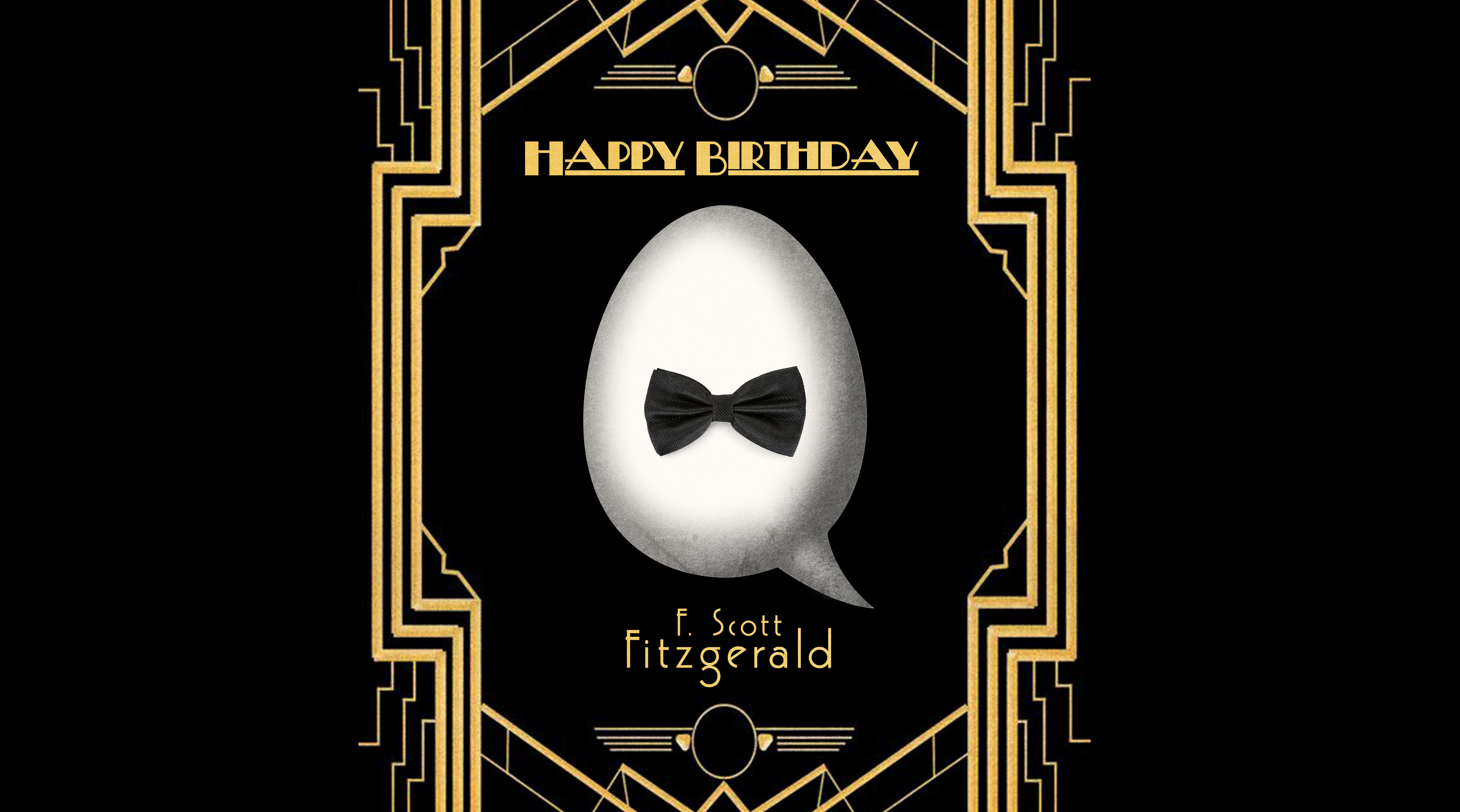 Happy Birthday F. Scott Fitzgerald!